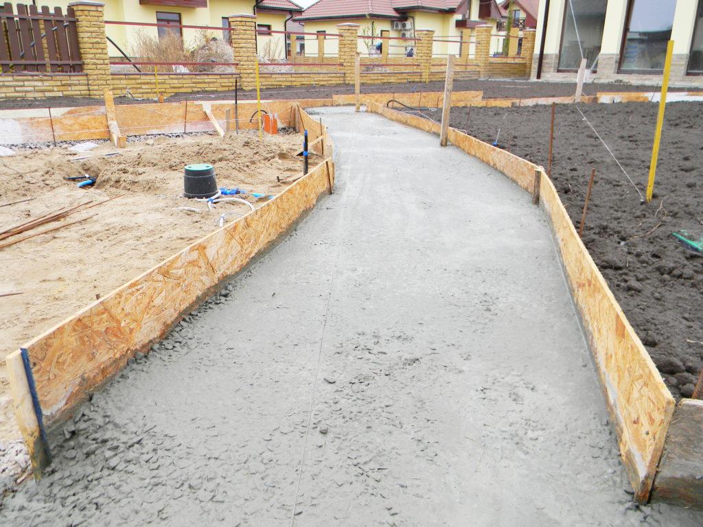 Custom Concrete Walkway